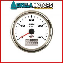 2361406 CONTAGIRI/ORE 4000G WHITE< Contagiri/Contaore Ecms White Chrome