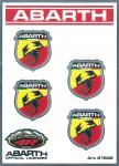 21502 ADESIVO ABARTH RACING TABS 4 SCUDETTI PICCOLI