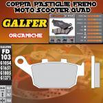 FD103G1054 PASTIGLIE FRENO GALFER ORGANICHE POSTERIORI KREIDLER NAKED 125 DD LEFT/IZQ. 08-