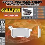 FD265G1054 PASTIGLIE FRENO GALFER ORGANICHE ANTERIORI METRAKIT SRM 110 4T 07-