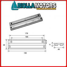 5123320 ANODO MOTORE MERCURY Barra Trim 30125 - V6 - Optimax - Verado