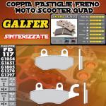 FD117G1370 PASTIGLIE FRENO GALFER SINTERIZZATE POSTERIORI HYOSUNG EXCEED 150 03-
