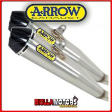 71851RKI MARMITTE ARROW PRO-RACING TRIUMPH Thruxton 1200 2016-2016 NICHROM/CARBONIO