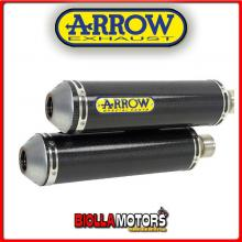 71627MC MARMITTE ARROW ROUND-SIL TRIUMPH Speed Triple 1050i 2005-2006 CARBONIO/INOX
