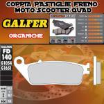 FD140G1054 PASTIGLIE FRENO GALFER ORGANICHE ANTERIORI PEUGEOT SATELIS 500 ABS PBS 07-