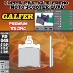 FD048G1651 PASTIGLIE FRENO GALFER PREMIUM ANTERIORI MALANCA OB, ONC, 6M 83-