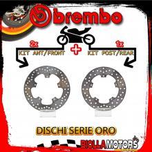 BRDISC-707 KIT DISCHI FRENO BREMBO GILERA NEXUS 2004-2013 500CC [ANTERIORE+POSTERIORE] [FISSO/FISSO]