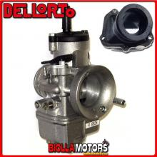 BR-54+06828 CARBURATORE DELLORTO PHBE 36 HS + COLLETTORE INCLINATO ROTAX 122