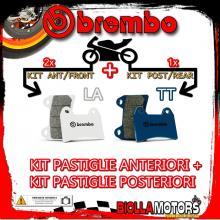 BRPADS-4711 KIT PASTIGLIE FRENO BREMBO APRILIA DORSODURO 2017- 900CC [LA+TT] ANT + POST