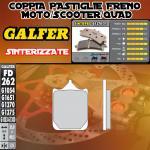 FD262G1370 PASTIGLIE FRENO GALFER SINTERIZZATE ANTERIORI TM SMX 660 F 04-