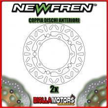 2-DF4089AF COPPIA DISCHI FRENO ANTERIORE NEWFREN YAMAHA MAJESTY 400cc YP 2005-2011 FLOTTANTE