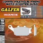 FD134G1054 PASTIGLIE FRENO GALFER ORGANICHE POSTERIORI PEUGEOT SV 250 03-