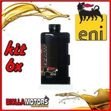 KIT 6X LITRO OLIO ENI KART 2T TOP SYNTETIC - 6x E141991