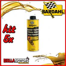 KIT 5X 500ML BARDAHL PULITORE DIESEL INJECTOR CLEANER 500 ML - 5x 122031