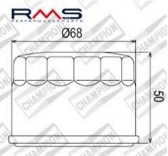 100609085 COF047 FILTRO OLIO YAMAHA YFM660 RLE-R, S Raptor Nero Limited Edition 03-04 (COF885 - F307)