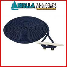 3101437 DOCK LINE NAVY 20MM X 15M< Treccia Mooring Blue Navy con Gassa