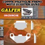 FD075G1054 PASTIGLIE FRENO GALFER ORGANICHE POSTERIORI CAGIVA K7 125 N90 91-