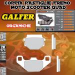 FD075G1054 PASTIGLIE FRENO GALFER ORGANICHE POSTERIORI TM 125 GS, MC 90-92