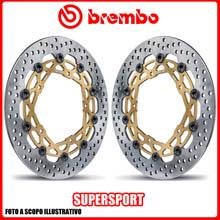208973735 KIT DISCHI FRENO BREMBO SUPERSPORT SUZUKI GSR 600cc 2006>2010 Ø310