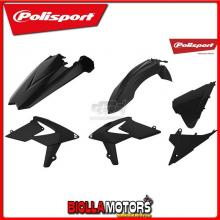 P90777 KIT PLASTICHE CARENE BETA RR 480 2018-2019 NERO POLISPORT