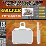 FD220G1371 PASTIGLIE FRENO GALFER SINTERIZZATE POSTERIORI MONDIAL PIEGA 1000 03-