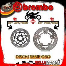 BRDISC-2373 KIT DISCHI FRENO BREMBO APRILIA PEGASO STRADA 2005-2009 650CC [ANTERIORE+POSTERIORE] [FLOTTANTE/FISSO]