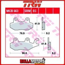 MCB663LC PASTIGLIE FRENO POSTERIORE TRW Daelim QL 125 Steezer i.e, S.i.e.ABS 2015- [ORGANICA- LC]