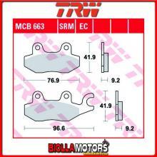 MCB663SRM PASTIGLIE FRENO POSTERIORE TRW Daelim QL 125 Steezer i.e, S.i.e.ABS 2015- [SINTERIZZATA- SRM]