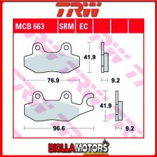MCB663 PASTIGLIE FRENO POSTERIORE TRW Daelim QL 125 Steezer i.e, S.i.e.ABS 2015- [ORGANICA- ]