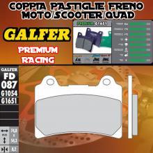 FD087G1651 PASTIGLIE FRENO GALFER PREMIUM ANTERIORI HM DERAPAGE 4T 11-