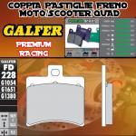 FD228G1651 PASTIGLIE FRENO GALFER PREMIUM POSTERIORI APRILIA SR 50 RACING CATALIZADA 00-