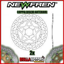 2-DF5167AF COPPIA DISCHI FRENO ANTERIORE NEWFREN YAMAHA R1 250cc Z 1997- FLOTTANTE