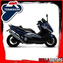Y097080IV SCARICO COMPLETO TERMIGNONI YAMAHA T MAX 500 2001-2011 RELEVANCE INOX/INOX
