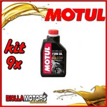 KIT 9X LITRO OLIO MOTUL FORK OIL FACTORY LINE VERY LIGHT 2.5W FORCELLA - 9x 105962