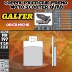 FD197G1054 PASTIGLIE FRENO GALFER ORGANICHE ANTERIORI PIAGGIO SFERA 96-