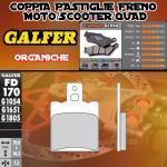 FD170G1054 PASTIGLIE FRENO GALFER ORGANICHE POSTERIORI GILERA RC 600 R, COBRA 94-