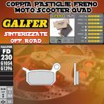 FD230G1396 PASTIGLIE FRENO GALFER SINTERIZZATE POSTERIORI METRAKIT SRM 110 4T 07-