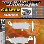 FD174G1054 PASTIGLIE FRENO GALFER ORGANICHE ANTERIORI KAWASAKI ER-6 F / NINJA 650 R (USA) LEFT / IZQ 05-