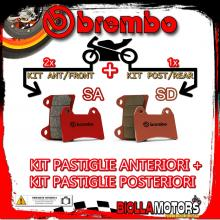 BRPADS-23027 KIT PASTIGLIE FRENO BREMBO MOTO MORINI GRANPASSO 2008- 1200CC [SA+SD] ANT + POST