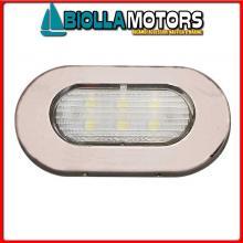 2143017 LUCE POZZETTO LED ELLIPTIC INOX< Luce Impermeabile LED Elliptic Top Inox