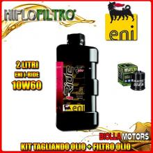 KIT TAGLIANDO 2LT OLIO ENI I-RIDE 10W60 TOP SYNTHETIC PIAGGIO 125 Beverly GT / Rst / Sport / MIC / Tourer 125CC 2001-2011 + FILT
