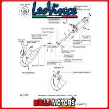 3260 SCARICO COMPLETO LEOVINCE MBK X-LIMIT 50 2003-2006 50CC X-FIGHT INOX