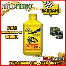 KIT TAGLIANDO 5LT OLIO BARDAHL XTC 15W50 TRIUMPH 955 Tiger 955CC 2005-2006 + FILTRO OLIO HF204