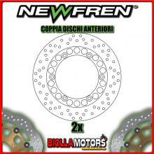 2-DF5079A COPPIA DISCHI FRENO ANTERIORE NEWFREN YAMAHA RD 350cc LC N-F all models 1985-1992 FISSO