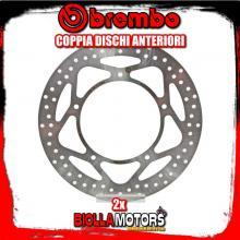 2-68B407F5 COPPIA DISCHI FRENO ANTERIORE BREMBO APRILIA SRV 2012- 850CC FISSO