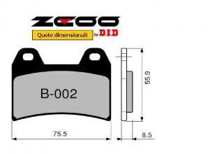 45B00201 PASTIGLIE FRENO ZCOO (B002 EX C) BMW G 650 X MOTO 2008-2009 (ANTERIORE)
