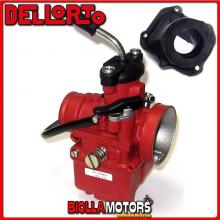 BR-53+09381 CARBURATORE DELLORTO VHST 28 BS + COLLETTORE INCLINATO ROTAX 122