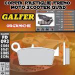 FD093G1054 PASTIGLIE FRENO GALFER ORGANICHE POSTERIORI HUSQVARNA 125 WXE 07-