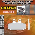 FD074G1054 PASTIGLIE FRENO GALFER ORGANICHE ANTERIORI GARELLI 125 GTA (3 FD) 87-