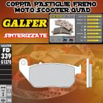 FD339G1370 PASTIGLIE FRENO GALFER SINTERIZZATE ANTERIORI HARLEY DAVIDSON XL 1200 V SEVENTY-TWO 12-